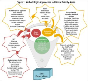 figure 1. Methodolic approaches to clinical priority areas