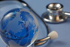 illustration of globe and stethoscope